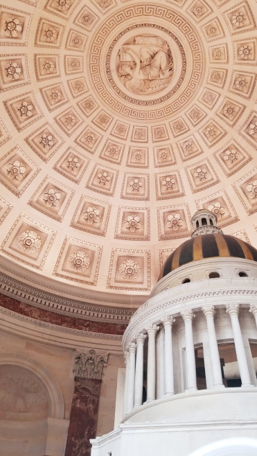 Pantheon model and beautiful ceiling