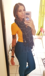 #OOTD - it was chilly but walking around got me hot - scarf was removed shortly after