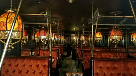 This is an old-timey train that was turned into a restaurant in one of the passages... it's so tacky but I adore it.